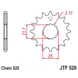 Предно зъбчато колело (пиньон) JTF520,14