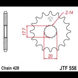 Предно зъбчато колело (пиньон) JTF558,18