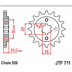 Предно зъбчато колело (пиньон) JTF711,13