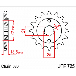 Предно зъбчато колело (пиньон) JTF725,14