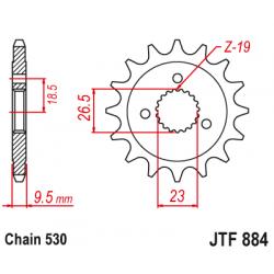 Предно зъбчато колело (пиньон) JTF884,21
