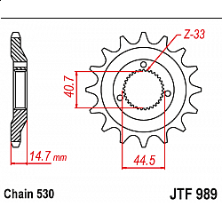 Предно зъбчато колело (пиньон) JTF989,21