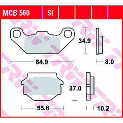 Мото накладки TRW MCB560SI