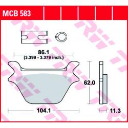 Мото накладки TRW MCB583