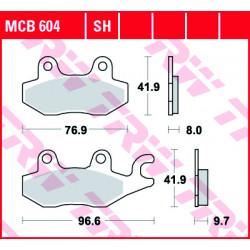 Мото накладки TRW MCB604SH