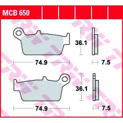 Мото накладки TRW MCB650