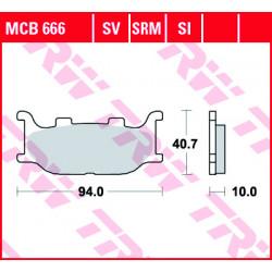 Мото накладки TRW MCB666SV