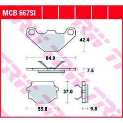 Мото накладки TRW MCB667SI
