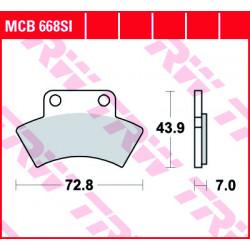 Мото накладки TRW MCB668SI