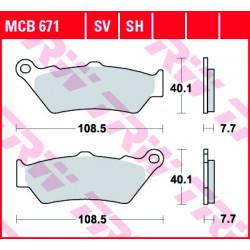 Мото накладки TRW MCB671SH