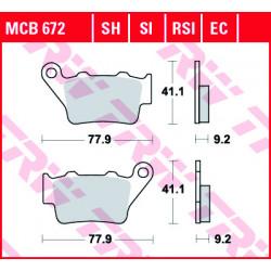 Мото накладки TRW MCB672SI