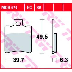 Мото накладки TRW MCB674SR