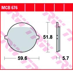 Мото накладки TRW MCB676