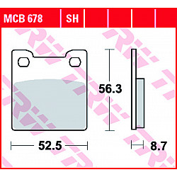 Мото накладки TRW MCB678