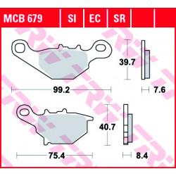 Мото накладки TRW MCB679SI