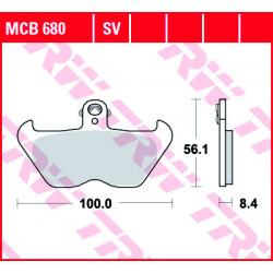Мото накладки TRW MCB680