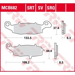 Мото накладки TRW MCB682SRQ