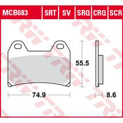 Мото накладки TRW MCB683SV