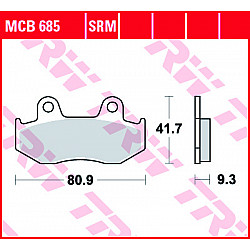 Мото накладки TRW MCB685SRM