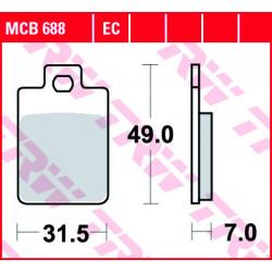 Мото накладки TRW MCB688