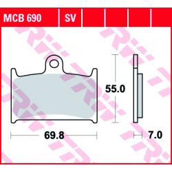 Мото накладки TRW MCB690SV