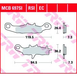 Мото накладки TRW MCB697SI