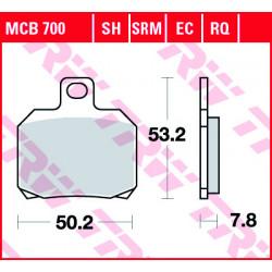 Мото накладки TRW MCB700