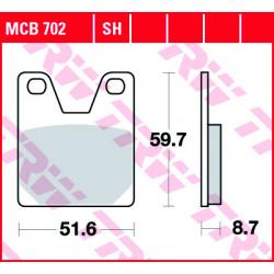 Мото накладки TRW MCB702