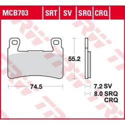 Мото накладки TRW MCB703
