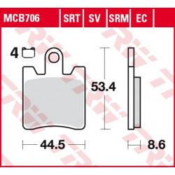 Мото накладки TRW MCB706