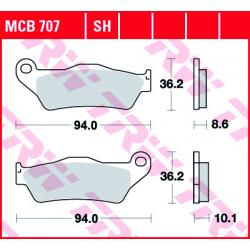 Мото накладки TRW MCB707SH