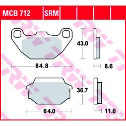 Мото накладки TRW MCB712