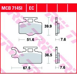 Мото накладки TRW MCB714SI