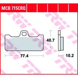 Мото накладки TRW MCB715CRQ