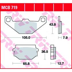 Мото накладки TRW MCB719