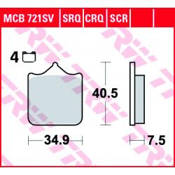 Мото накладки TRW MCB721SV