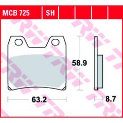 Мото накладки TRW MCB725