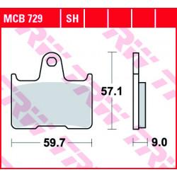 Мото накладки TRW MCB729