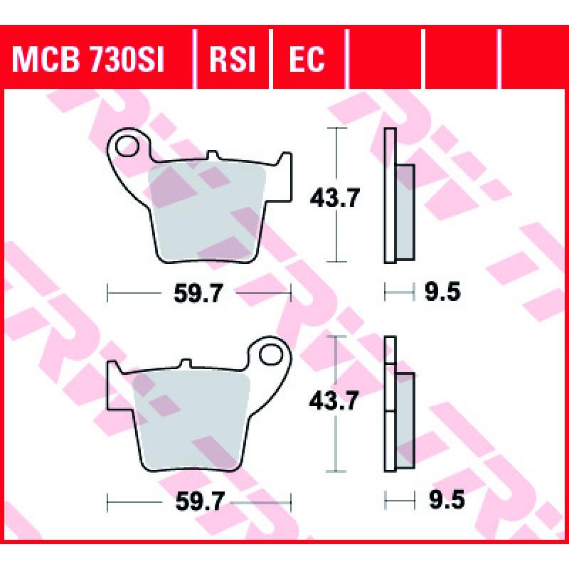 Мото накладки TRW MCB730SI
