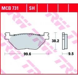Мото накладки TRW MCB731SH