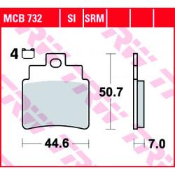 Мото накладки TRW MCB732
