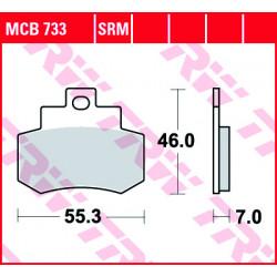 Мото накладки TRW MCB733