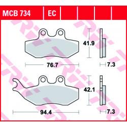 Мото накладки TRW MCB734