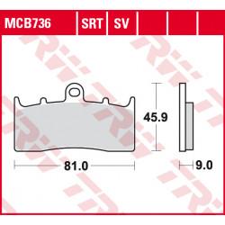 Мото накладки TRW MCB736