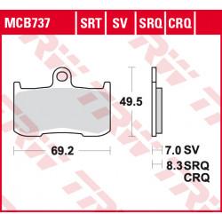 Мото накладки TRW MCB737SRQ