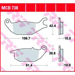 Мото накладки TRW MCB738