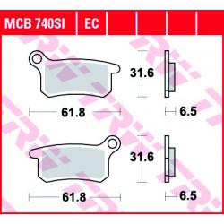 Мото накладки TRW MCB740SI