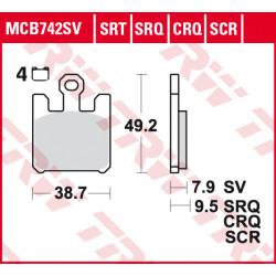 Мото накладки TRW MCB742SV