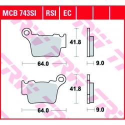 Мото накладки TRW MCB743SI