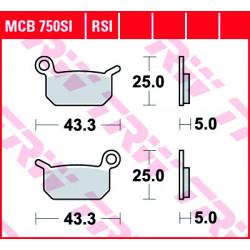 Мото накладки TRW MCB750RSI